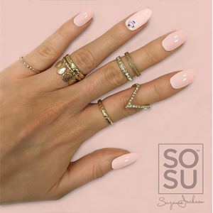SOSU By Suzanne Jackson Fashion Nails 'French Kiss'