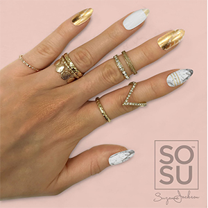 SOSU By Suzanne Jackson Fashion Nails 'Marble Rush'