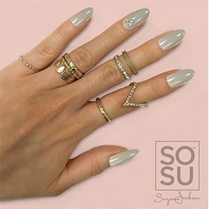 SOSU By Suzanne Jackson Fashion Nails 'Silver Linings'