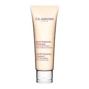 "Clarins Gentle Foaming Cleanser With Shea Butter ""Dry/Sensitive Skin"" 125ml"