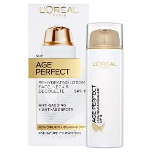 L'Oreal Age Perfect Face, Neck & Décolleté SPF15 Rehydrating Lotion 50ml
