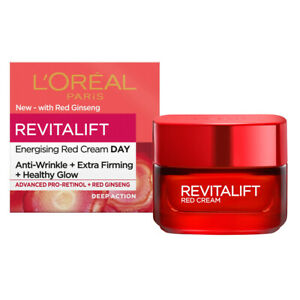 L'Oreal Revitalift Energising Red Day Cream With Ginseng 50ml