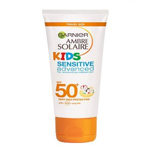 Garnier Ambre Solaire Kids Sensitive Advanced Sun Cream Lotion SPF 50 Mini 50ml
