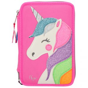 Top Model 3 Tier Pencil Case- Pink Sparkly Unicorn