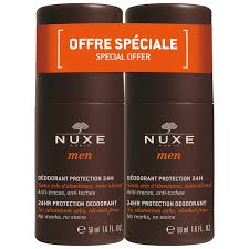 Nuxe Men 24hr Protection Roll On Deodorant Double Pack