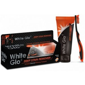 White Glo Charcoal Toothpaste & Toothbrush