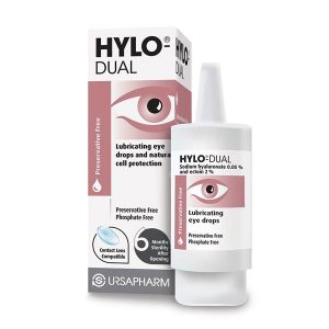 Hylo-Dual Lubricating Eye Drops And Natural Cell Protection 7.5ml