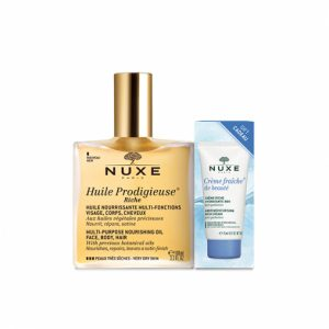 Nuxe Huile Prodigieuse Riche 100ml With 15ml Creme Fraiche Dry Skin FREE