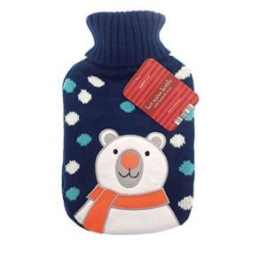 Christmas Hot Water Bottle With Knitted Cover – Polar Bear