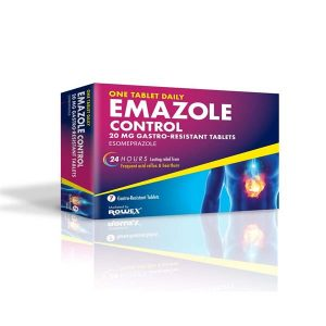 Emazole Control Esomeprazole 20mg 7 Tablets