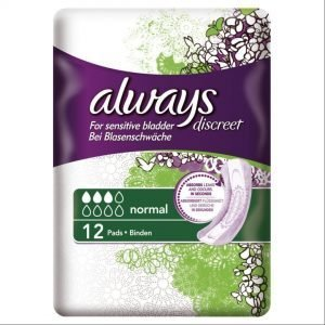 Always Discreet For Sensitive Bladder Normal 12 Pads