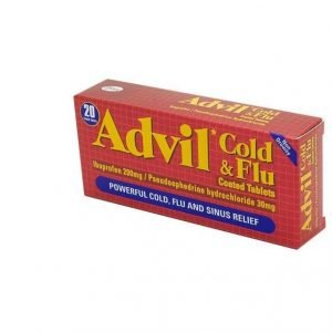 Advil Cold & Flu Coated Tablets – 20