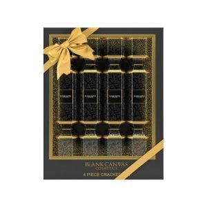 Blank Canvas 4 Piece Cracker Set – Black & Gold