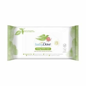 Baby Dove Biodegradable Wipes – 75 Wipes