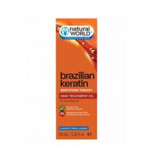 Natural World Superfoods For Hair Brazilian Keratin Smoothing Oil 100ml