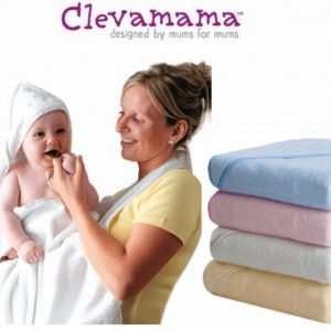 ClevaMama White Apron Baby Bath Towel