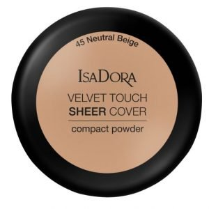 IsaDora Velvet Touch Sheer Cover Compact Powder – 45 Neutral Beige