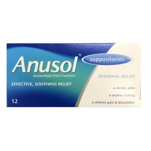 Anusol Suppositories – 12 Pack