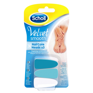 Scholl Velvet Smooth Electric Nail Heads X 3