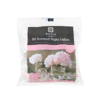 Baltus Limited Edition Pack Of 20 Scented Tea Lights – Peony & Blush Suede