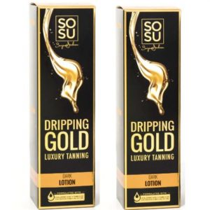 SOSU By Suzanne Jackson Dripping Gold Luxury Tanning Lotion – Dark Double Pack