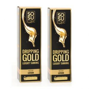 SOSU By Suzanne Jackson Dripping Gold Luxury Tanning Lotion – Medium Double Pack