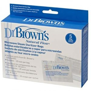 Dr Brown's Microwave Steam Sterilizer Bags 5 Pack